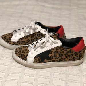 Leopard Lace Up Star Sneaker | S 7